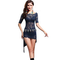 Fashion Irregular Lace Sexy Belly Dance Clothes 2pcs Set For Women Female Gypsy Training Dress