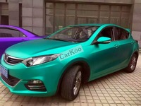 Tiffany Blue Matte Chrome Vinyl Sheet Adhesive Car Decal Film With Air Channel Chrome Matt Vehicle Decoration Covers