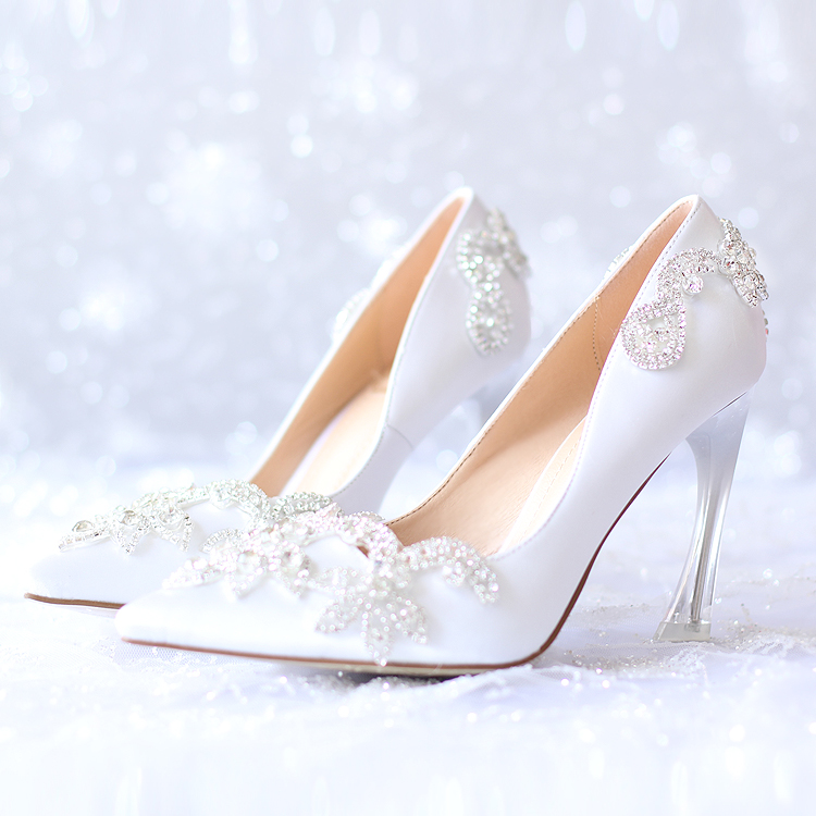 STRANGE style heel bridal wedding shoes high 7cm/9cm heel dress shoes silk fshion Spring and AUtumn  single shoes