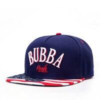 Hot American USA Flag Snapback Cap 3D BUBBA Letter LOGO Baseball Hat Planas Gorras Cotton Hiphop