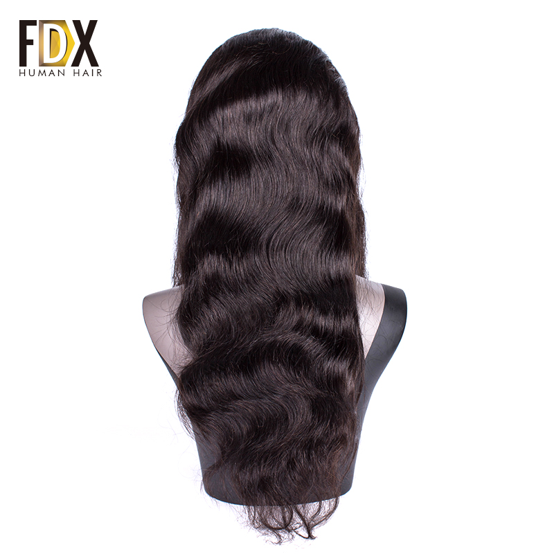 Brazilian Body Wave lace front human hair wigs For Black Women Nartural Color 13x4 pre plucked