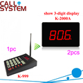 1 keypad 2 screen Wireless Guest Waiting Calling System for fast food restaurant/hospital