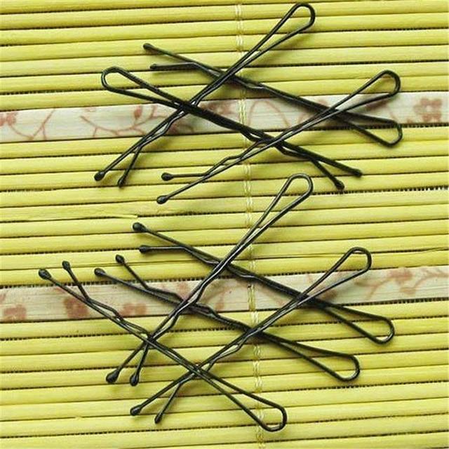 Hot Sale 60pcs Black Hair Waved U-shaped Pin Grip Clip Hairpins For Women Girls Hair Jewerly