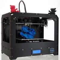 CTC FDM черный Makerbot Replicator 3D Printer 1 PLA filament + 2 экструдера Новые