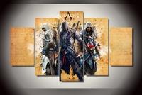 2017 Cuadros 5 Sztuk Płótno Malowanie Assassins Creed 3 Ezio Modułowa Zdjęcia Wall Art Dekoracji Murale Tableau Dla Pokoju Gościnnego