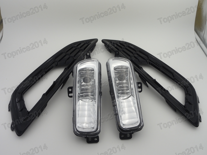 1Set New Front Bumper Fog Light Lamp Kits + Fog Lights
