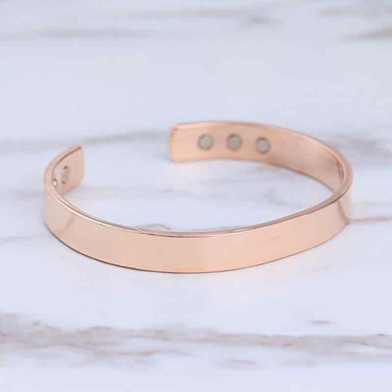 0570e92b039 ... New Magnetic Copper Bangle Bracelet Healing Bio Therapy Arthritis Pain  Relief Cuff Bangle Women Men Jewelry