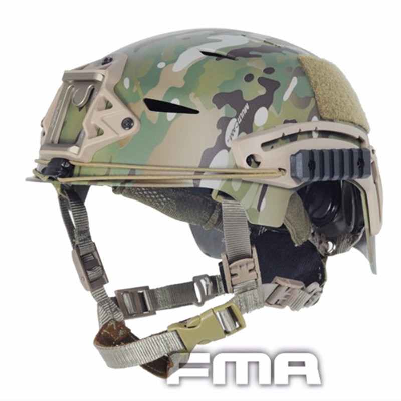 2017 FMA Real Cascos Paintball Wargame Tactical Helmet Cover Cloth Army Airsoft Military For Tactical Skirmish Airsoft TB743FG tactical wargame motorcycling helmet w eye protection glasses grey black size l7