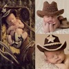 Handmade Cute Baby Infant Knitted Clothing Set Cowboy Costume Crochet Photo Props 0 1 Month Newborn