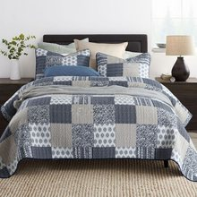 CHAUSUB プリントベッドカバーキルトセット 3 個洗浄綿キルトキルティング寝具枕ケースキング、クイーンサイズのセット