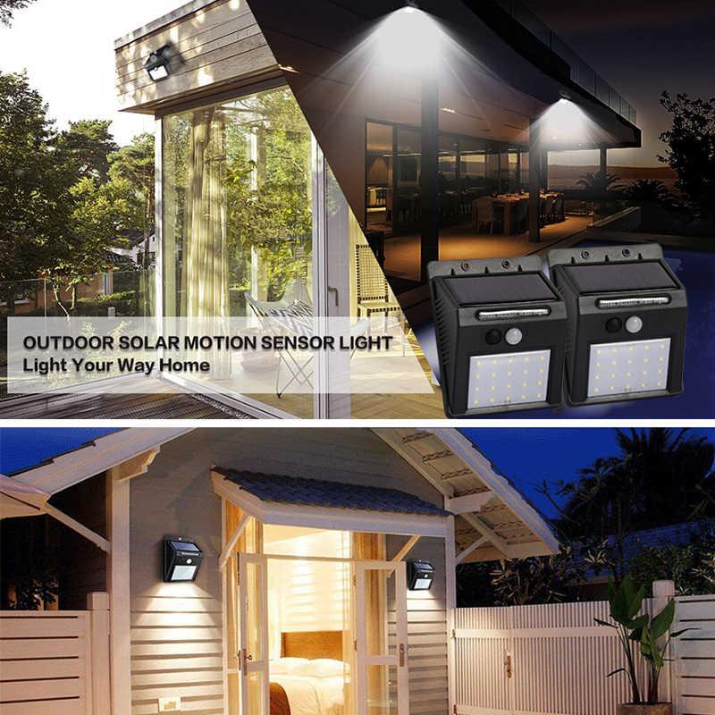 Перезаряжаемая солнечная батарея лампа наружная Водонепроницаемая PIR датчик движения настенный ночник лампы 20 светодиодов для дома сада Путь
