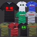 Summer motorcycle cotton short-sleeved Kawasaki T-shirt race fans can be customized clothing for men and women T shirt