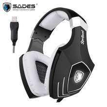 Sades A60S OMG USB Gaming Headphones for Computer Laptop PC Gamer Game font b Headset b