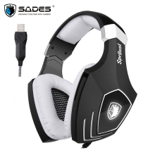 Sades A60S/OMG USB Gaming Headphones for Computer Laptop PC Gamer Game Headset Best Bass Casques with Microphone Noise Isolating