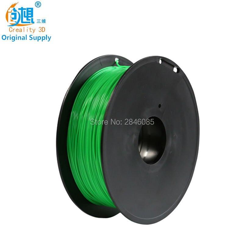 Hot CREALITY 3D Cheap 3D Printer Filaments PLA Green Color Samples 1KG/roll 1.75mm for 3D Printer /3D Pen/Reprap/Makerbot various optional 3d printer pla filament samples 1kg roll 1 75mm 3mm for most 3d printer 3d pens reprap makerbot