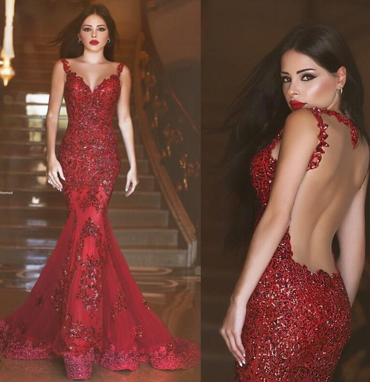 2017 New Arabic Backless Mermaid Evening Dresses 2016 Charming Long ...