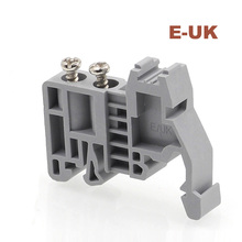 20/50/100pcs UK terminal block fixed part E-UK terminals plug C45 Din guide rail fastening seat E/UK fixing parts end stopper цена 2017
