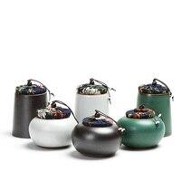 النمط الياباني السيراميك الشاي العلبة الشاي الجرار يدوية خمر إكسسوارات عالية الجودة الغذاء و التوابل جرة مختومة حفل الشاي
