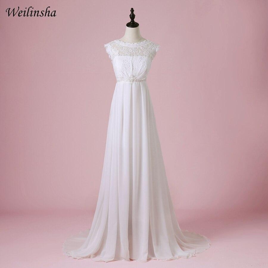 Weilinsha недорогое шифоновое пляжное свадебное платье 2019 Scoop A-Line Летние Свадебные платья Vestido de Noiva для беременных свадебное платье es