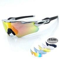 SAVA 5 Lens UV400 Mens Polarized Cycling Sun Glasses Sports Bicycle Glasses 2016 MTB Mountain Bike