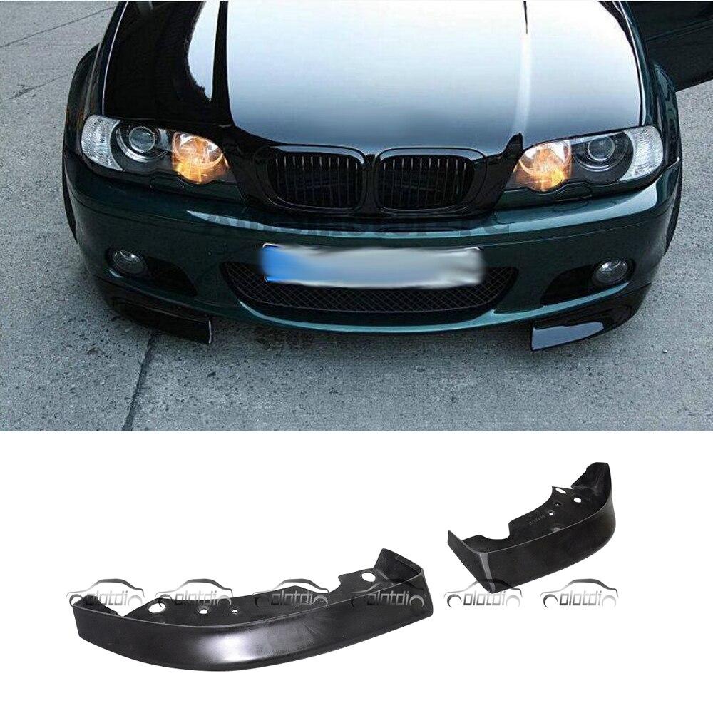 Pour BMW série 3 E46 2/4 porte 99-04 Style de voiture CSL Style E46 PU matériel avant lèvre diviseur volets (convient seulement pare-chocs de M-TECH