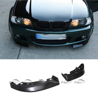 for BMW 3 Series E46 2 / 4 Door 99 04 Car Styling CSL Style E46 PU Material Front Lip Splitter Flaps (Only Fit M TECH Bumper