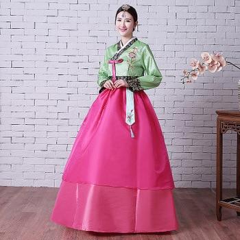 High Quality Women Korean Traditional Dress Female Long Sleeve Women  Korean Wedding Hanbok Ancient National Hanbok Clothing 89