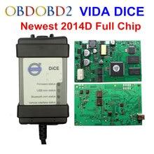 2014D Hottest Full Chip Para Volvo Vida Dice Ferramenta de Diagnóstico Multi-Idioma Para Volvo Dice Pro Vida Dice Placa Verde Livre navio