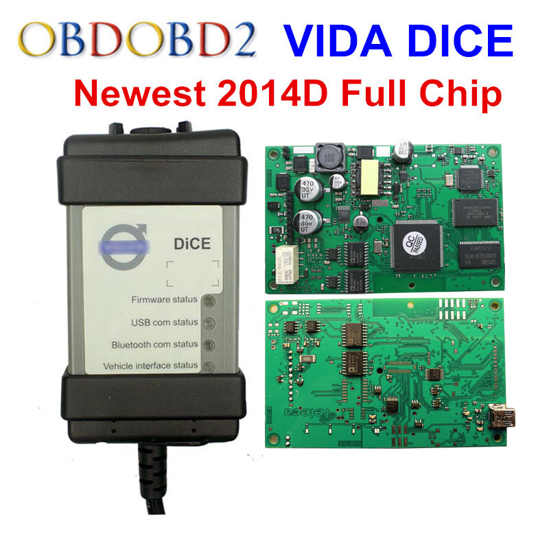 Hottest Full Chip For Volvo Vida Dice 2014D Diagnostic Tool Multi-Language For Volvo Dice Pro Vida Dice Green Board Free Ship