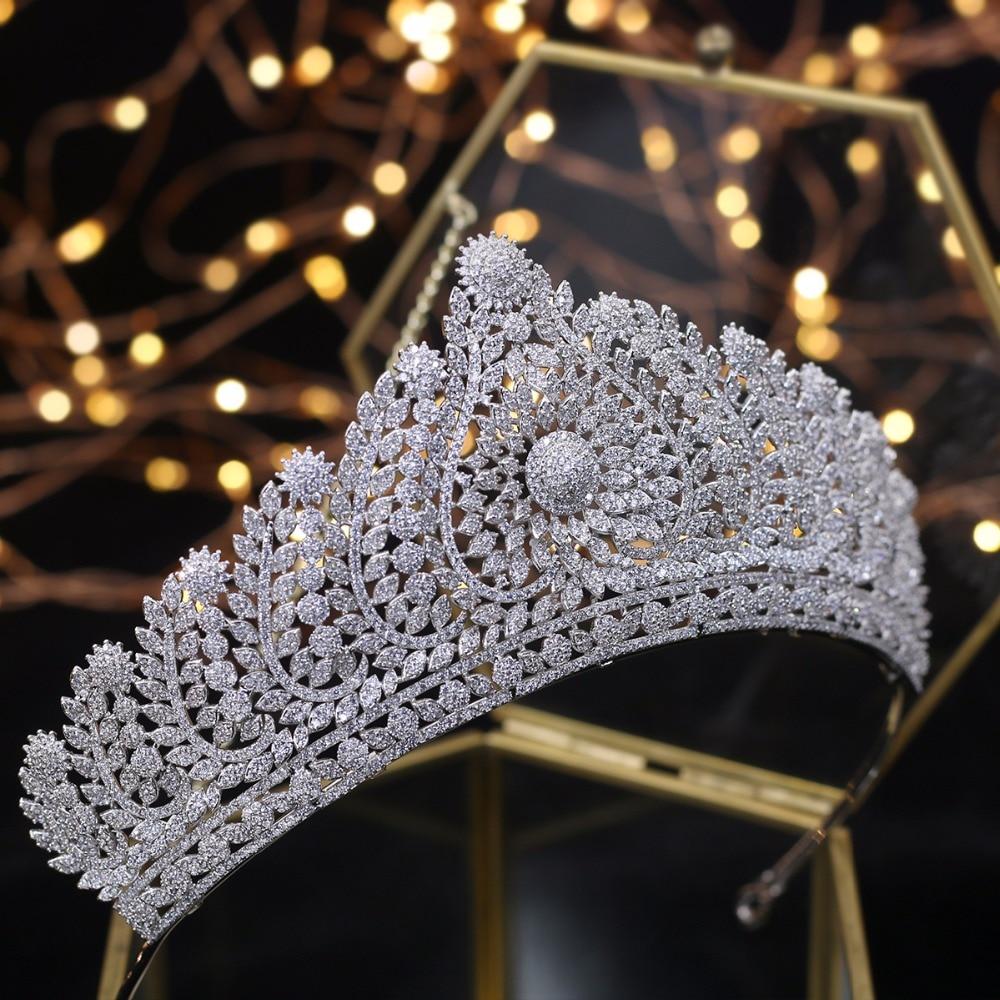 Wspaniały królewski diadem Quinceanera korony ozdoba ślubna do włosów ślubne biżuteria do włosów Tocado Novia ślubne akcesoria do włosów w Biżuteria do włosów od Biżuteria i akcesoria na  Grupa 1