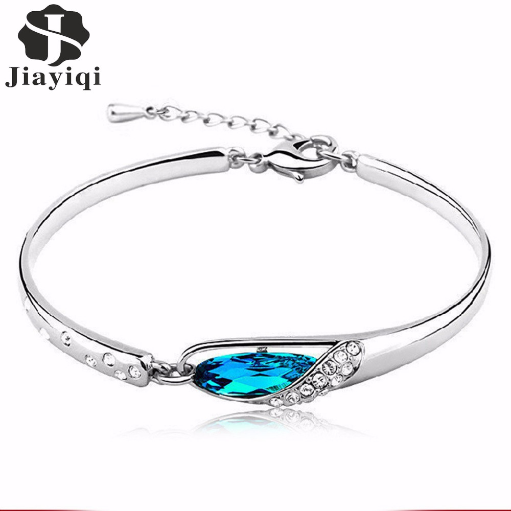 Fashion Cubic Zircon Crystal Bracelets For Women Vintage Silver Color  Bracelet Fine Jewelry Romantic Gift For