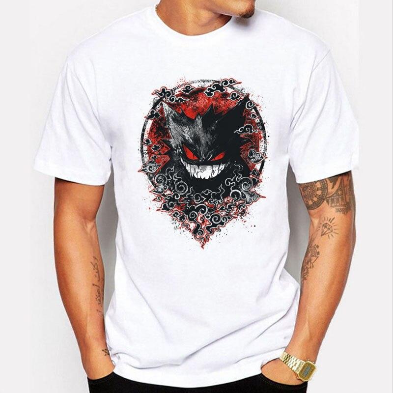 Marque T-Shirt Hommes 2016 Mode Pokemon Aller Gengar T-shirt 3D effet Pokemon Aller T-shirt Hommes Drôle T-shirts À Manches Courtes Cool Tops