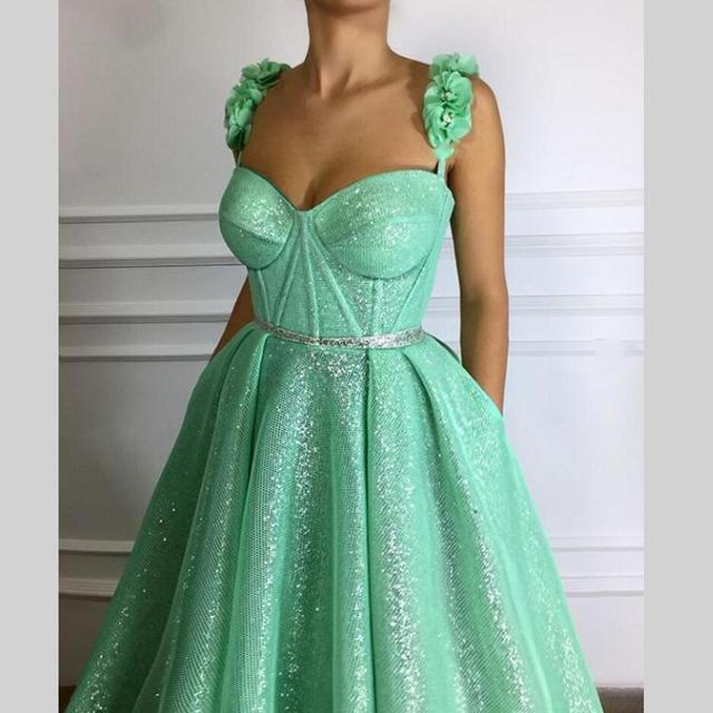 2574a4f64f Brillo largo vestidos noche vestido De Prom turco flores nuevas mujeres  vestido Formal para el baile
