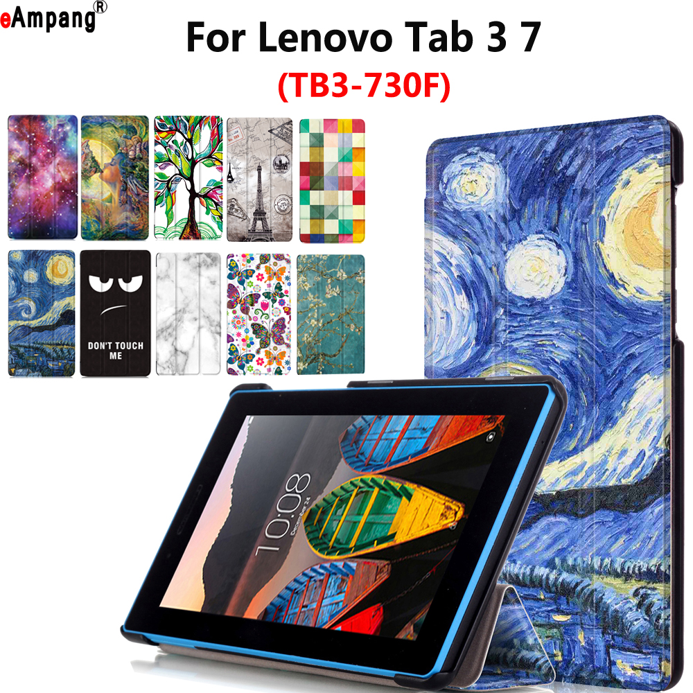 Fashion Print Case for Lenovo Tab3 Tab 3 7 7.0 TB3-730F TB3-730M TB3-730X 730F 730M 730 Case Cover Funda Tablet Stand Flip Shell 7 for lenovo tab3 3 7 730 tb3 730 tb3 730x tb3 730f tb3 730m tab 730 touch screen digitizer lcd screen display assembly frame