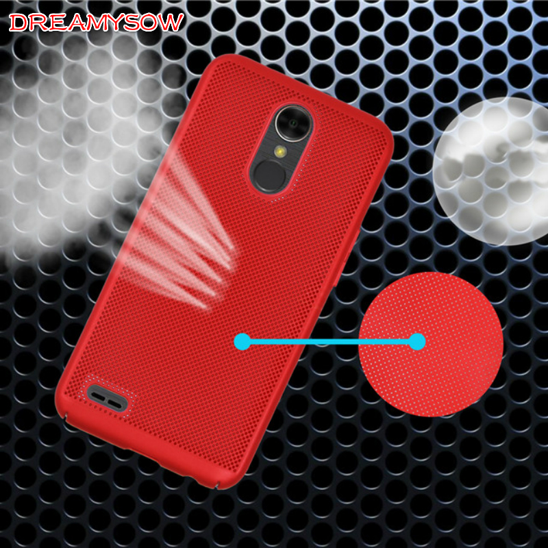 Breathable Case For LG K10 2017 K10 2018 Q8 V30 Q6 K8 2017 Case luxury Matte Cooling Full PC Heat dissipation case coque funda