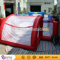40ft*20ft PVC inflatable 3N1 football pitch and basketball and badminton playground for kid N adult sport toy