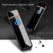 Lighter USB Chargeable Electronic Windproof Smooth Touch Metal Cigarette lighter for Man Women Smoking Accessories Dropshipping