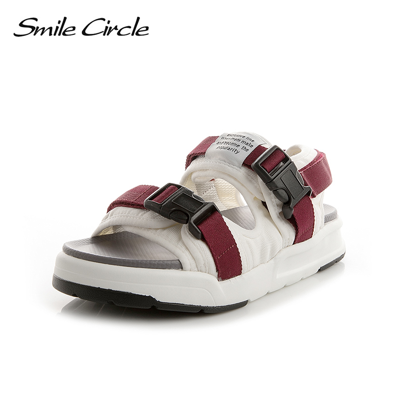 Smile Circle 2018 Summer Style Sandals For Women Shoes Fashion Flat Platform Shoes women Open Toes Casual Sandals Beach shoes 2018 summer air mesh shoes women casual sneakers women flat shoes new fashion lovers unisex beach shoe casual sandals large size