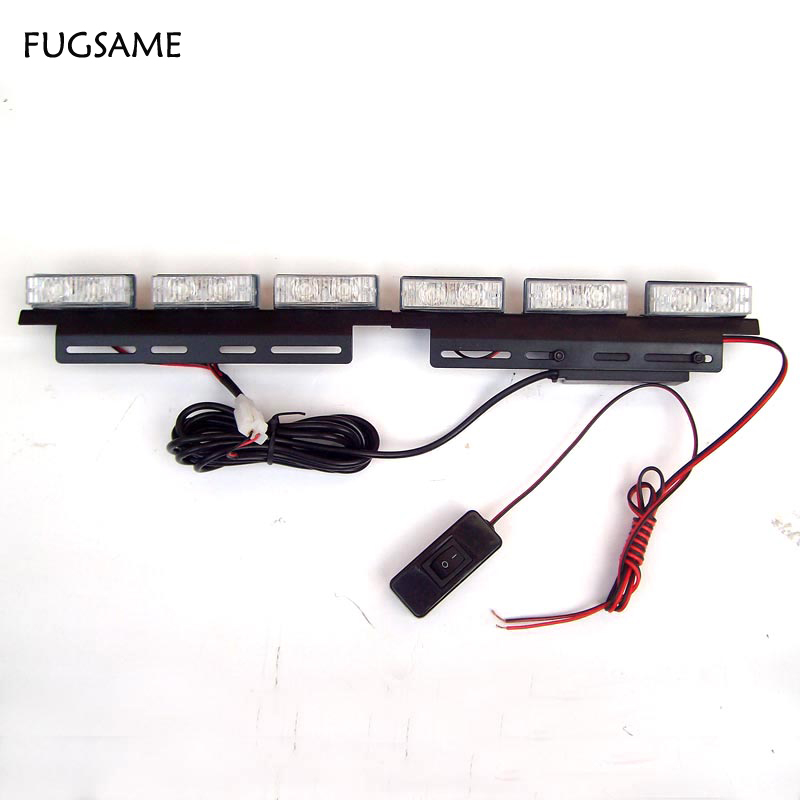 FUGSAME FREE SHIPPING 6*3 LED Fire Emergency Strobe Warning Tow Truck Lights BLUE Emergency 3 FLASHING MODE