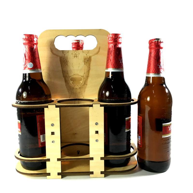 Free Shipping 1Piece Wooden Red Wine Rack Beer DIY 6 Bottles Holder Creative Kitchen Bar Display Shelf Home Table Decoration