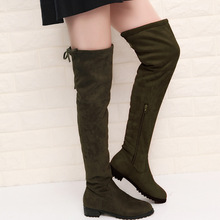 Slim Boots Sexy Over The Knee High Suede Women Snow Boots Women's Fashion Winter Thigh High Boots Shoes Woman