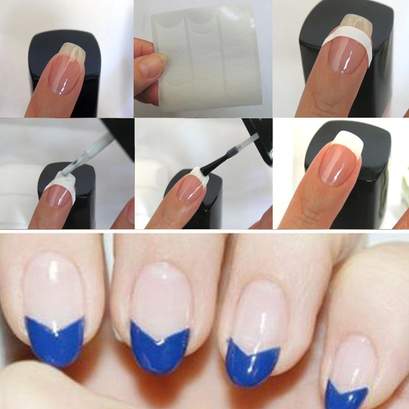 12pcs Lot Nails Sticker Art Smile Line Tips Guide French Stencil Nail Decals 19 Designs Diy Decorations Stickers In Underwear From Mother Kids On