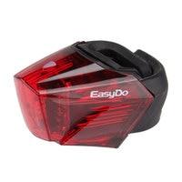 EASYDO Bicycle Rear Light Bike Tail LED Lamp USB Rechargeable Warning Safety Lantern German STVZO Criteria