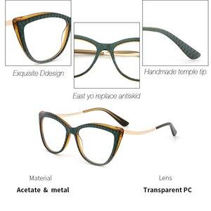 Image 2 - Donne in acetato Occhiali Da Vista Ottico Lente Occhiali Da sole Donne Miopia Occhiali Da Vista Frames Occhiali di Modo di Tendenza Verde #9015
