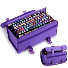 Premium Quality Oxford 120 Slots Marker Pen Case Markers Bag Portable School Pencils Case Large Capacity Pencil Bag