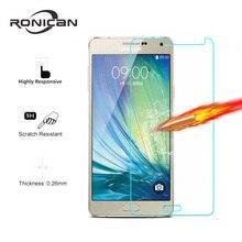 מגן מסך זכוכית מחוסמת עבור Samsung Galaxy A8 2018 A3 A5 A7 2017 J4 J6 A6 J1 J2 J3 J5 j7 2016 S3 S4 S5 S6 הערה 3 4 5 סרט