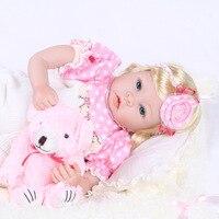 Main Reborn Bébé Poupée 22 Pouce 55 cm Souple En Silicone Bébé Fille S Nouveau-Né Poupées Enfants Birthhday Cadeau De Noël