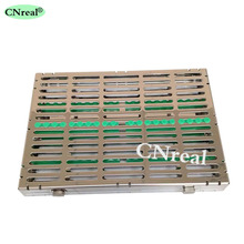 1 pc Dental Disinfection Sterilization Brackets Cassette Case Rack Tray Box for 20 pcs Surgical Instruments 1 pcs high quality dental sterilization cassette rack tray box case for 7 instruments disinfection plate