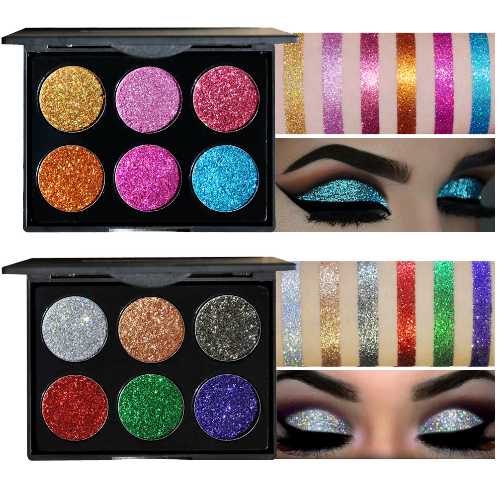 Image 4 - HANDAIYAN Brand Diamond Golden Color Powder Glitter Eye Shadow Palette Shiny Eyeshadow Palette Eye Makeup Women Gfit-in Eye Shadow from Beauty & Health
