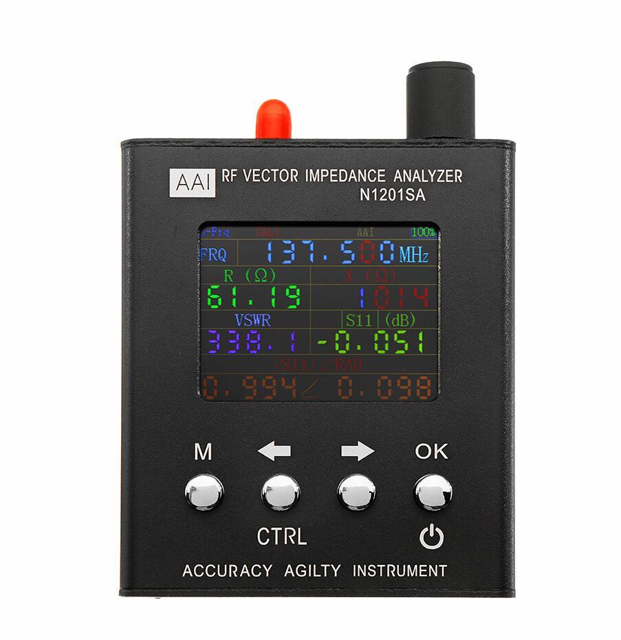 English verison N1201SA 137 5MHz 2 7GHz UV RF Vector Impedance ANT SWR Antenna Analyzer Meter
